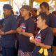 Pelantikan pengurus Dekorda Banyuwangi Puskor Hindunesia di Pura Nirmalajati, Pesanggaran, Banyuwangi, Minggu (23/2). (ras)