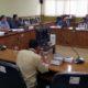 NGADUH - Puluhan perwakilan warga RT 28, RW 06, Perum Pucang Indah, Kelurahan Pucang, Kecamatan Sidoarjo mengaduh ke Komisi A DPRD Sidoarjo soal tower yang ada di lingkungan perumahan mereka, Selasa (11/2/2020)