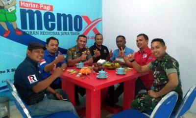 Jalin Silaturahmi dan Sinergitas, Dandim 0824 Kunjungi Kantor Memo X Grup Biro Jember