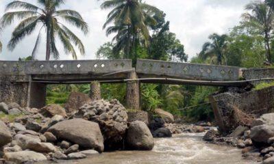 Tampak penyangga Jembatan Jumerto dan mengancam keselamatan pengguna. (ist)