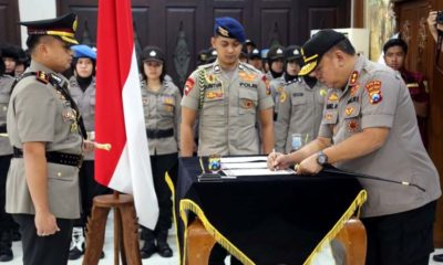 Terima Tongkat Komando, AKBP Hendri Umar SIK MH Resmi Jabat Kapolres Malang