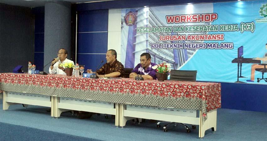 Polinema Gelar Workshop K3, Akuntan Wajib Paham Penerapan di Perusahaan