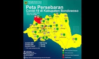 Beredar Kabar Kecamatan Wringin Bondowoso Masuk Red Zona Dalam Peta Penyebaran Covid -19.
