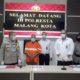 Tersangka Slamet saat dirilis di Mapolresta Malang Kota. (gie)