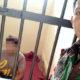 Terduga pelaku pencabulan Firman di sel tahanan Mapolsek Wongsorejo. (ist)