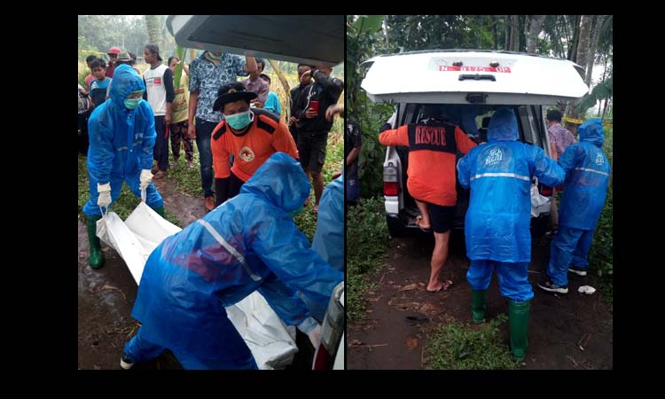 Evakuasi dan identifikasi jenazah korban. (ist)