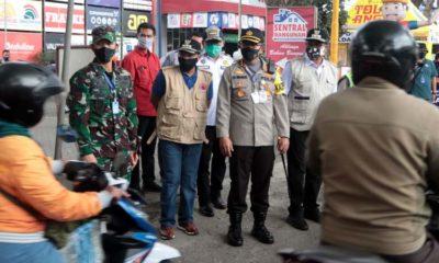 H-1 PSBB di Kota Malang, Walikota Sutiaji Tinjau Check Point