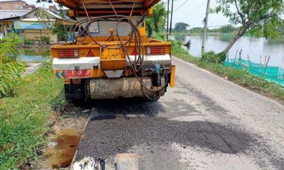 Pemkab Lamongan Mulai Genjot Perbaikan Jalan Rusak Pasca Banjir