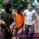 Pelaku saat di rilis di Mako polres Probolinggo kota (pix)