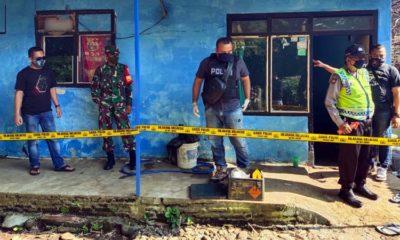 Lokasi kejadian usai diselidiki Polsek Singosari. (Humas Polres Malang)