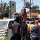 DEMO - Ratusan warga Desa Sebani, Kecamatan Tarik, Sidoarjo menggelar demo soal arogansi perangkat desanya di balai desa setempat, Senin (08/06/2020)