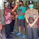 SOSIALISASI : Kepala Disperindag Kabupaten Malang Agung Purwanto bersama Suyadi Kepala Pasar Kepanjen dalam prosesi Sosialisasi. (Sur)