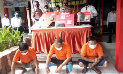 Kapolres Bangkalan AKBP Rama Santama Putra saat pers rilis penyalagunaan narkoba