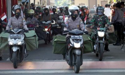 Anggota Polri dan TNI siap salurkan bantuan sosial kepada warga terdampak Covid-19 secara door to door