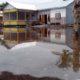 BANJIR ROB: Rumah warga tampak tergenang air. (her/im)