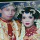 Foto semasa hidup korban Muhammad Ridwan bersama istri dan anaknya yang masih balita, Sabtu (13/6/2020)