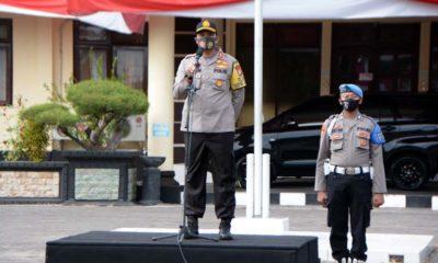 PIMPIN APEL : Kapolres Situbondo AKBP Sugandi SIK M Hum. (im)