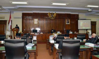 Suasana rapat paripurna di gedung DPRD Kabupaten Trenggalek. (ist)