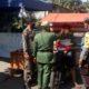 Pemerintah Desa Kedungboto, bersama Forkopimpka Kecamatan Porong saat berada di Posko Kampung Tangguh (gus)