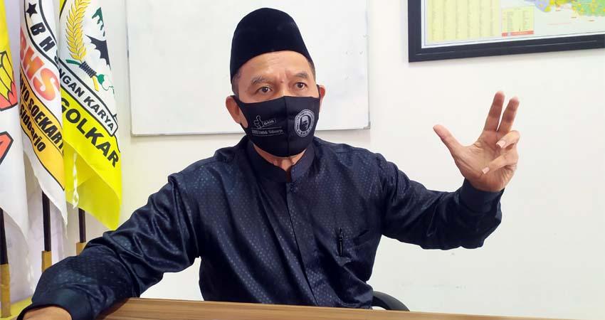 KETERANGAN - Bacabup Sidoarjo, Bambang Haryo Soekartono (BHS) memberikan keterangan pers soal penanganan dan pencegahan penyebaran Covid-19 di Sidoarjo di Media Center BHS, Rabu (8/7/2020)