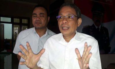 Kepala Kejaksaan Negeri Kota Malang Andi Darmawangsa dan Kasi Pidsus Ujang Supriadi . (gie)