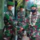 Dandim 0826 Pamekasan Letkol Inf M Efendi saat pisah kenang dengan anggota, di Makodim Pamekasan, Selasa (04/08/20). (memo x /adi)