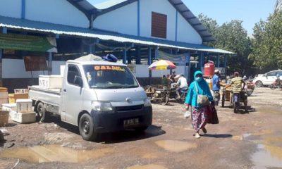 Tempat pelelangan di PPP Mayangan Probolinggo