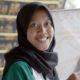 PRODUKSI: Proses produksi Batik Bangsawan, UMKM Mitra Binaan Petrokimia Gresik