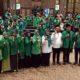 Pasangan Gus Yani-Bu Min (baju putih tengah) saat menghadiri Rapimcab II PPP Gresik, 30 Juni lalu