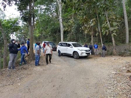 Kondisi Jalan Larmani Desa Tlekung Kota Batu.