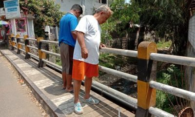 Jembatan inilah yang digunakan korban mengakhiri hidupnya. (ist)