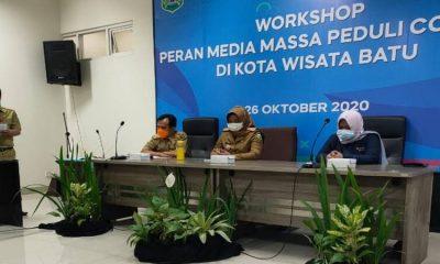 Acara workshop peran media sosial peduli covid-19 di Kota Batu.