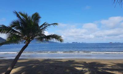 Keindahan Pantai Damas Desa Karanggandu Kecamatan Watulimo yang alami.