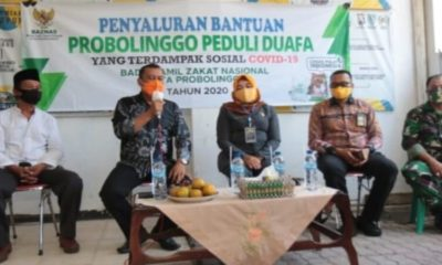 Penyaluran bantuan ke ke Kampung Tangguh Semeru Toga RW 3 Perumahan Bromo, Kelurahan Ketapang Kota Probolinggo. (ist)