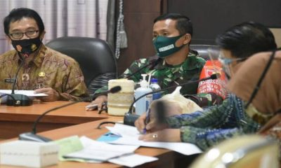 Plt Bupati Jember, Drs.KH. A.Muqit Arief saat Rakor rencana pelaksanaan TMMD ke 110.