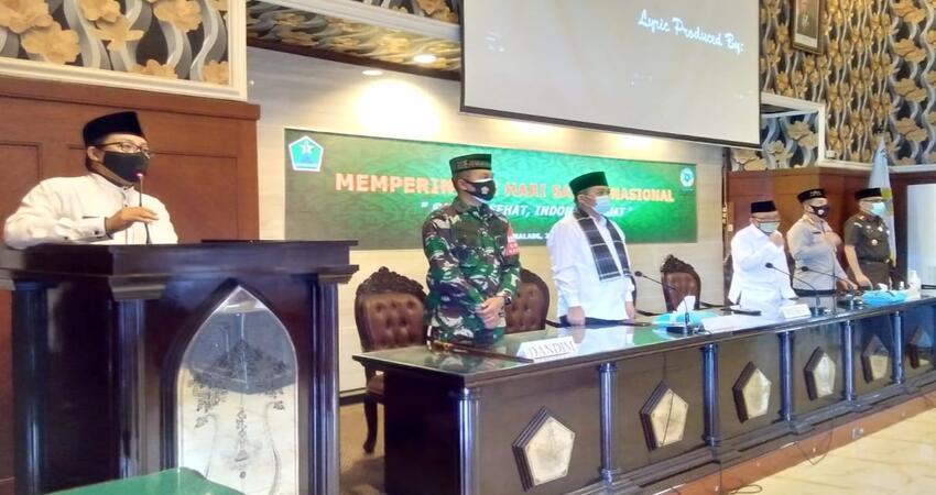 Suasana Rapat Paripurna di Gedung DPRD Kota Malang sembari memperingati HSN 2020.