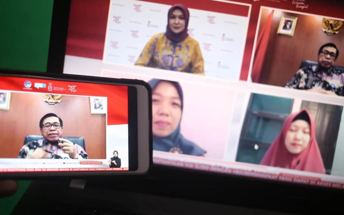 Dr. Abdul Kahar, M.Pd (Kepala Pusat Layanan Pembiayaan Pendidikan (Puslapdik) Kemendikbud) dalam dialog produktif bertema subsidi upah mendukung pendidik dan tenaga kependidikan non-PNS bersama Perwakilan Dosen dan Guru Honorer penerima Subsidi di Jakarta, Kamis (19/11/2020) - 2 Juta PTK Non PNS Disiapkan BSU Rp 3,6 Triliun