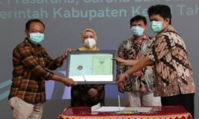 Bupati Kediri, dr. Hj. Haryanti Sutrisno di acara Monitoring dan Evaluasi Monitoring Center For Prevention (Monev MCP).