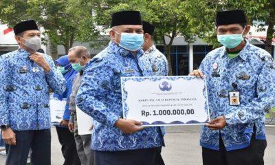 Peringatan HUT Korpri yang digelar Pemkab Malang.