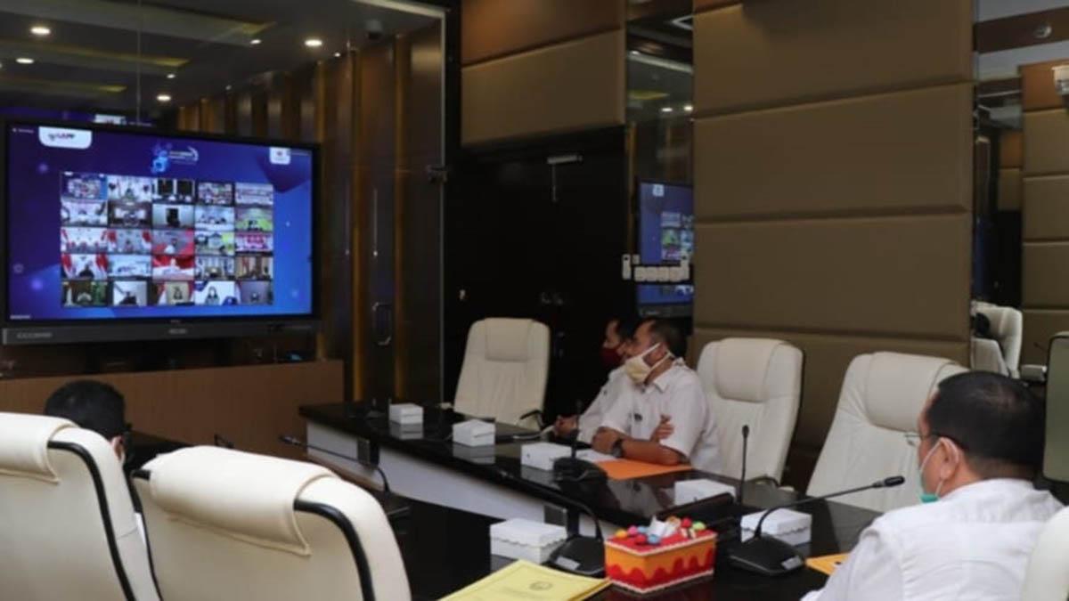 Pjs Wali Kota Pasuruan Ikuti Rakornas LKPP Secara Virtual