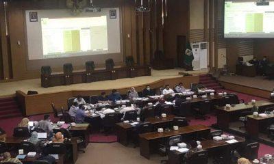 Pembahasan RAPBD tahun 2021 yang digelar di Gedung DPRD Kabupaten Malang.