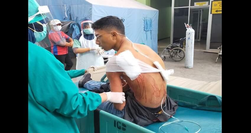 Korban saat dirawat di RSUD Dr. Moch Saleh Kota Probolinggo.