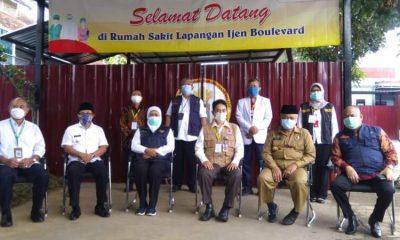 Gubernur Jatim bersama Forpimda Malang Raya saat peresmian RS Lapangan Ijen Boulevard.