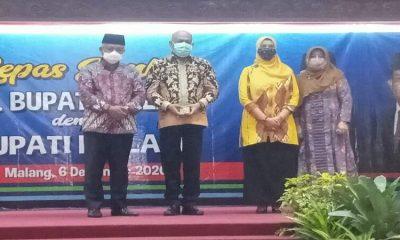Kegiatan lepas sambut Pjs Bupati dengan Bupati Malang.