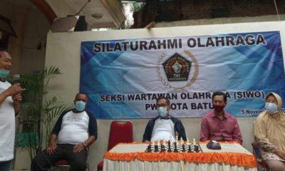 Pelaksanaan turnamen catur yang digelarr Siwo PWI Kota Batu.