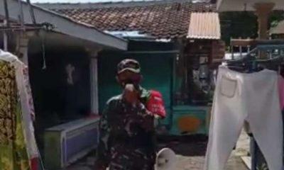 Gawe Koramil 0823 Panji Situbondo, Sosialisasi 3M dan Bagikan Masker Secara Door to door