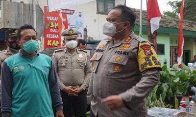 Kapolres Malang Tinjau KTS dan Posko Covid-19 Desa Tegalgondo