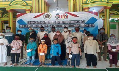 Peringati HPN 2021, PWI Malang Raya Adakan Khotmil Quran dan Santunan Anak Yatim