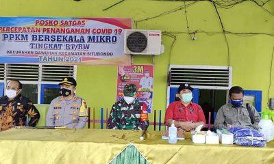 Satgas Covid-19 Situbondo Pantau Posko Kelurahan dan Desa yang Disasar PPKM Skala Mikro