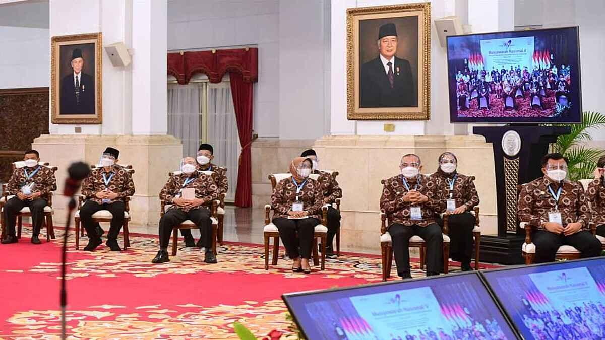Buka Munas V APKASI, Jokowi Ditengah Pandemi Kewaspadaan Harus Tetap Dijaga